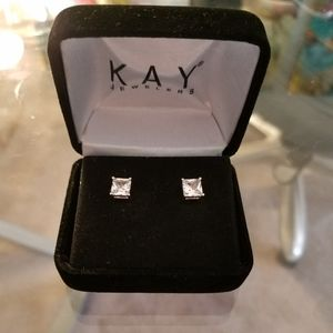 White sapphire earrings from Kay jewelers